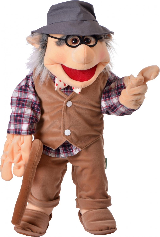 Handpop opa, vertelpop opa, Living puppets opa, menspop