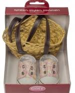Gevlochten tas met schoenen - Götz