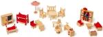 Poppenhuismeubeltjes met tuinsetje - Legler