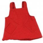 Handpoppen kleding - Rode jurk