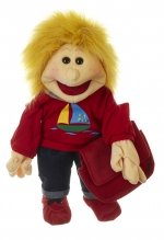Handpop - Kleine Lasse met schooltas