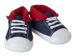 Schoentjes blauw met rode binnenkant - 65 cm