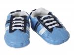 Schoentjes blauw met zwarte bovenkant - 65 cm