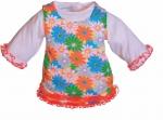 Kleding handpoppen - 45cm - Gebloemde jurk 2 delig