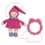 Corolle - Babypop (paars) en bijtspeeltje - 15cm