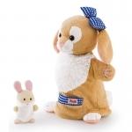 Handpop Konijn met baby - Trudi