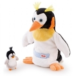 Handpop - Pinguin met baby - Trudi