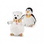Handpop - IJsbeer en Pinguin 2 in 1 - Trudi
