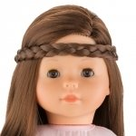 ma Corolle - Haarband met vlecht bruin