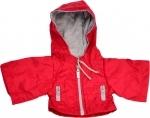 Kleding handpoppen - 45cm - donkerrode jas