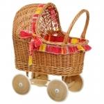 Rieten poppenwagen - Thimble Toys