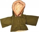 Kleding Handpoppen - 65 cm - Winterjas groen