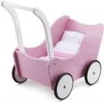 New Classic Toys - Houten poppenwagen roze