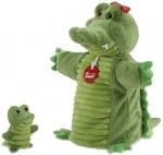 Handpop - Krokodil met baby - Trudi
