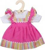 Bigjigs - 30cm - Roze jurk met shirt