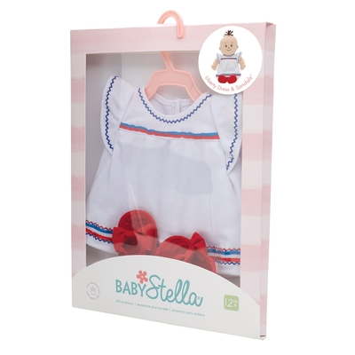 Baby Stella - Jurkje met sandaaltjes - 35cm