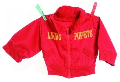 Kleding handpoppen - Rood vest - 65 cm