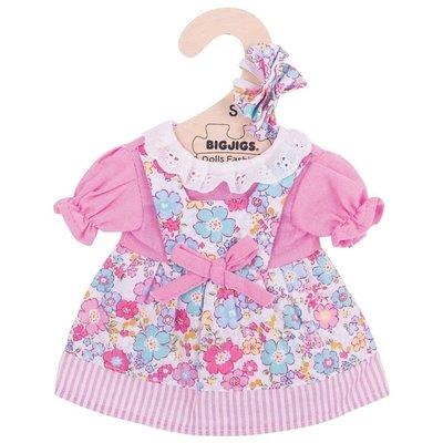 Bigjigs - 25cm - Gebloemde jurk