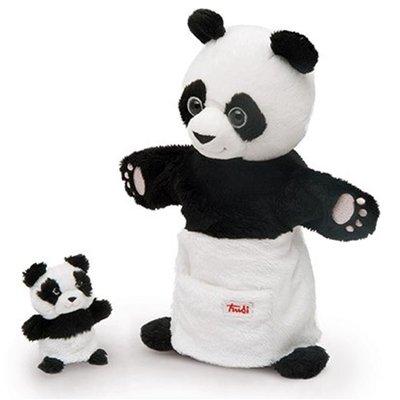 Handpop Panda met baby - Trudi