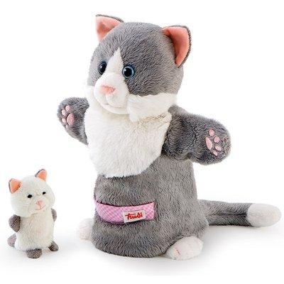 Handpop Kat met baby - Trudi