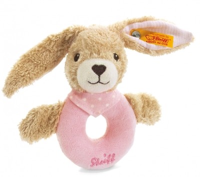 Steiff Rabbit Rammelaar roze