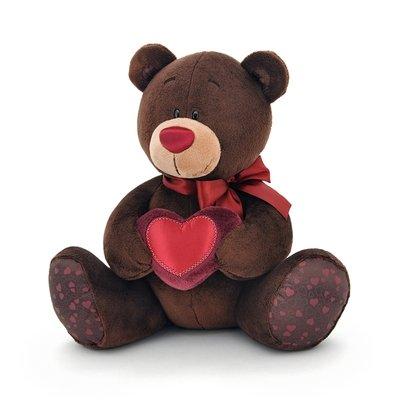 Choco zit met rood hart - 20cm