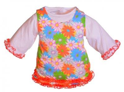 Kleding handpoppen - 65cm - Gebloemde jurk 2 delig