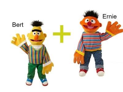 Handpoppen Bert + Ernie 65cm
