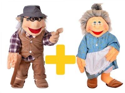 Handpoppen opa en oma 65cm - Living Puppets