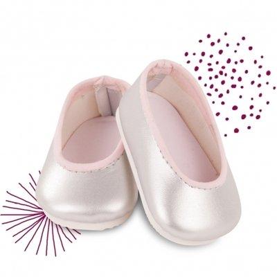 Zilveren ballerinas - 42-50cm - Götz